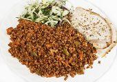 picture of buckwheat  - Buckwheat with a side dish of buckwheat - JPG