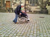Elderly People Touring In Dresden