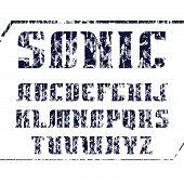 Serif Font Bold Geometric Constructed