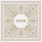 Vector floral frame with copy space