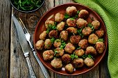 Meatballs Grilled With Parsley