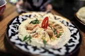 Plate With Hummus