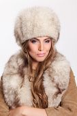 Pretty Woman Wearing Fur