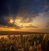 Sunset Over A Nyc.
