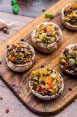pic of portobello mushroom  - Portobello mushrooms stuffed with tomato - JPG