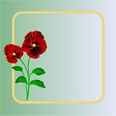 Pansies Spring Flowers Vector