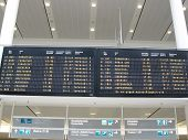 Arrivals and departures at airport