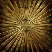 stock photo of tan lines  - gold metal plate with rays pattern  - JPG