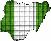 Nigeria Map With Flag Inside