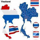 Thailand vector set.