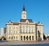 neo-classical architecture of City Hall in Novi Sad, Serbia