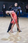 Belarussian dance couple of Kolesnev Sergey and Buldyk Arina performs Adult Latin-American program