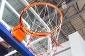Close Up Basketball Hoop