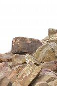 Rocks isolated on white background.