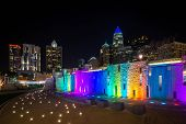 Colorful Charlotte Skyline