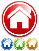 Glossy House Icons