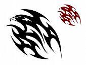 Tribal bird tattoo