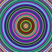 Multicolored vibrant circles pattern illustration.