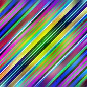 Multicolored diagonal graduated stripes pattern background.