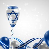 picture of nationalism  - Flag of Israel on balloon - JPG