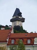 The bell tower in Graz in Austria