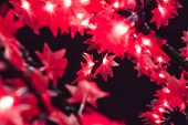 Garland In The Form Of Red Maple Leaves