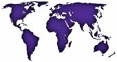 Royal Purple map of the world
