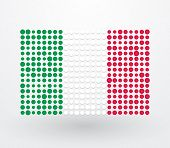 Italy Flag Made ??up Of Dots
