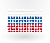 Russia Flag Made up Of Dots