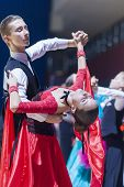 Oleshkevich Daniil and Bashlaminova Olga perform Juvenile-1 Standard European program