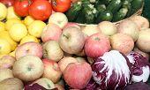 Fresh Fruit For Sale At Vegetable Market