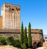 Exterior view of Alhambra, Granada. Spain