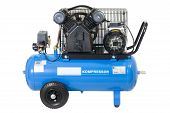 pic of gage  - Blue compressor isolated on a white background - JPG