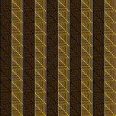 Traditional African Ornamental Pattern. Stylized Seamless texture with triangles or Tree Leaves.