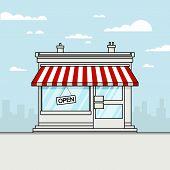 Vector Detailed Shop, Market, Store