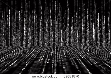 Digital Abstract Background Black And White Matrix Perspective Concept Poster ID 89651870