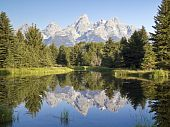 Teton Reflection at Schwabacher's Landing