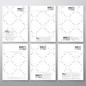 foto of node  - Dotted repeating modern stylish geometric background with circles and nodes - JPG