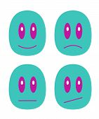 stock photo of emoticons  - It is a small set with emoticons - JPG