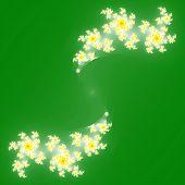image of mandelbrot  - Fractal floral pattern texture with green background - JPG
