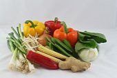 raw stir-fry vegetables