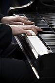 image of chopin  - Pianist playing piano outdoors - JPG