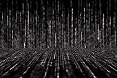 Постер, плакат: Digital Abstract Background Black And White Matrix