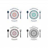 foto of food logo  - Asian food logo templates set - JPG