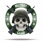foto of m16  - Military club or company badges and labels logo - JPG