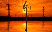 foto of power transmission lines  - Power lines - JPG