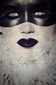 Grunge Gothic Masked Beauty