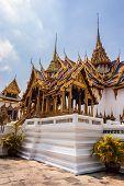foto of royal palace  - Phra Thinang Dusit Maha Prasat in Royal Palace Bangkok Thailand - JPG