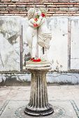 image of cupid  - The statue of Cupid and Psyche located in Ostia old town Rome Italy - JPG