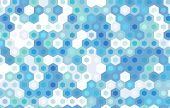 foto of hexagon pattern  - blue hexagon vector background design - JPG